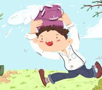 春天卡通儿童植树节PSD素材