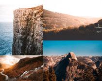 美麗的山峰景色拍攝高清圖片