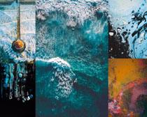 藍色海浪風景攝影高清圖片
