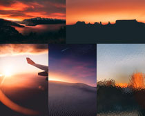 夕陽天空風景攝影高清圖片