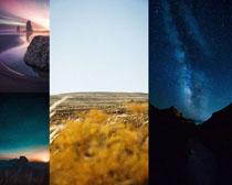 星空小溪天空摄影高清图片