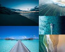 蓝色海洋风光摄影高清图片
