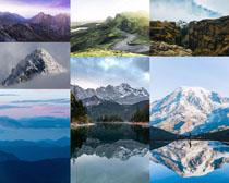 高山雪山風景攝影高清圖片
