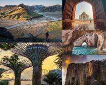 國外山峰建筑景色攝影高清圖片