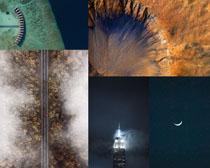 道路高山夜景風光攝影高清圖片
