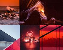 黃昏夕陽風景拍攝高清圖片