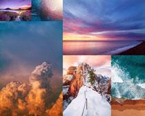 落日天空大海风景摄影高清图片