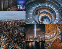 夜景城市風景攝影高清圖片