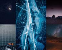 夜色月亮天空景色拍攝高清圖片