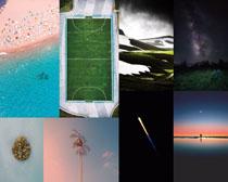天空沙灘壁紙景色攝影高清圖片