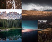 山峰自然景色拍攝高清圖片