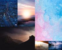 高山云雾城市风景摄影高清图片