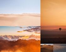 沙漠天空景色摄影高清图片