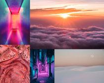 日出唯美景观拍摄高清图片