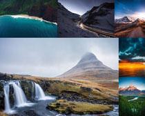 山峰道路风景画摄影高清图片