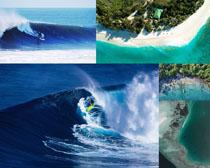海上冲浪风景拍摄高清图片