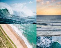 大海海浪沙滩风景摄影高清图片