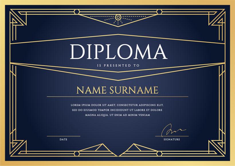 简洁荣誉证书设计PSD素材