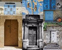古典雕塑門攝影高清圖片