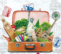 歐洲游旅行海報PSD素材