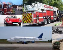 消防車跑車飛車攝影高清圖片
