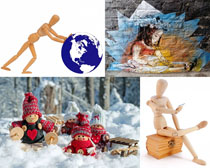 木偶玩具拍攝高清圖片