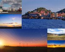 海岛城市风光拍摄高清图片