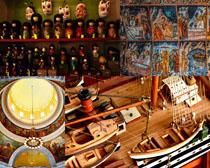 文化工藝品展示攝影高清圖片