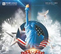 纽约之旅封面广告PSD素材