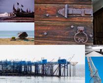 海上漁船大海風景拍攝高清圖片