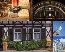 歐美樓房建筑拍攝高清圖片