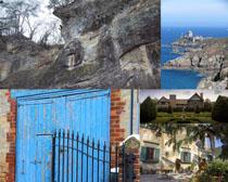 國外海島建筑風光拍攝高清圖片