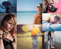 國外時尚女性寫真拍攝高清圖片