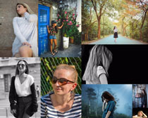 生活中的歐美女人拍攝高清圖片