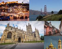 國外風情建筑城堡攝影高清圖片