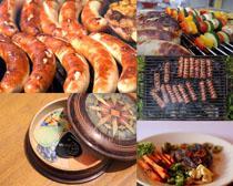 烤腸食物拍攝高清圖片