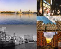 海邊建筑城市拍攝高清圖片