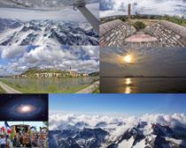 雪山宇宙風景拍攝高清圖片