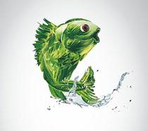 珍惜粮食年年有鱼海报PSD素材