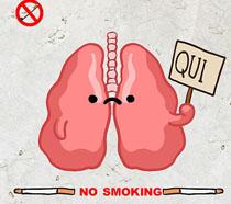 香烟有害健康公益广告PSD素材