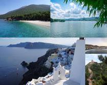 海邊風景與城市拍攝高清圖片