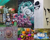 國外藝術文化墻攝影高清圖片