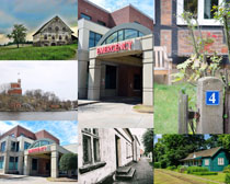 国外小别墅建筑风光拍摄高清图片