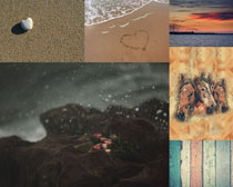 天空沙灘大海背景拍攝高清圖片