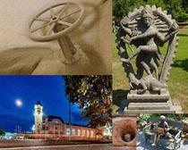 外國建筑塑像展示攝影高清圖片