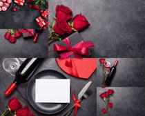 情人節花朵禮物拍攝高清圖片