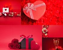 花朵禮物情人節攝影高清圖片圖片