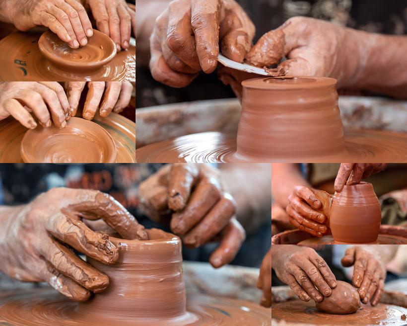 瓷器制作藝術攝影高清圖片