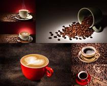 咖啡果与咖啡写真拍摄高清图片