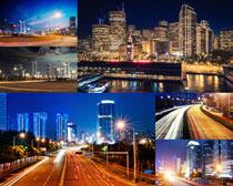 夜景城市建筑风光摄影高清图片